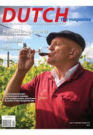 Dutch 2016 09 10 cover with Freek Verhoeven wine