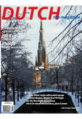 Dutch 2018 01 02 cover with winter in Leeuwarden
